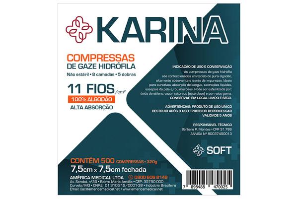 compressa de gaze hidrófila karina
